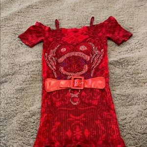 M U.S.A red blouse